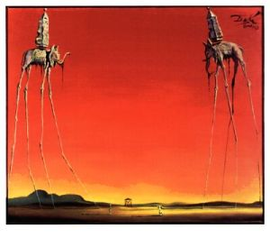 Les Elephants-Salvador Dali-